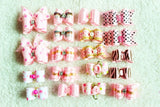 Hand-made Small Dog Hair Bows Rubber Band Cat Hair Clips