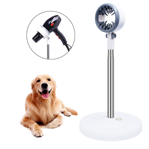 Pet Hair Dryer Bracket Stand Dog Cat Grooming Support Arm Adjustable