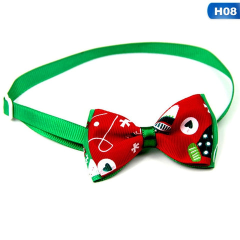Christmas Holiday Pet Cat Dog Collar Bow Tie
