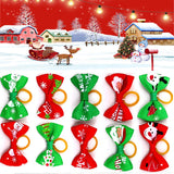 10Pcs/Set Pet Christmas Bowknot Headdress