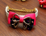 Factory outlets pet dog cat fashion PU leather collar supplies