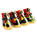 Dog's Boots PU Anti Slip Shoes for Small Pet Product ChiHuaHua
