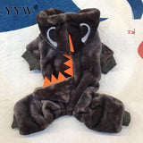 Coat Hoodies For Pets Products  Dogs Warm Small Dinosaur Costume