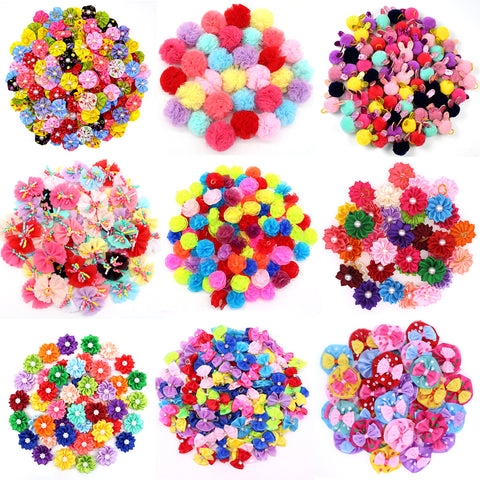 20PCS Cute Handmade Small Puppy Dog Hair Bows