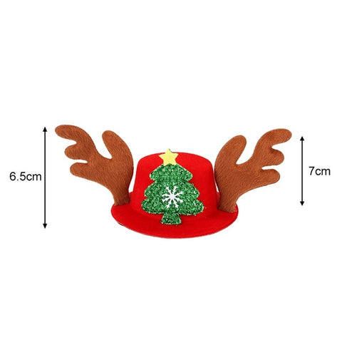 Christmas Pet Headdress Cat Santa Hat & Puppy