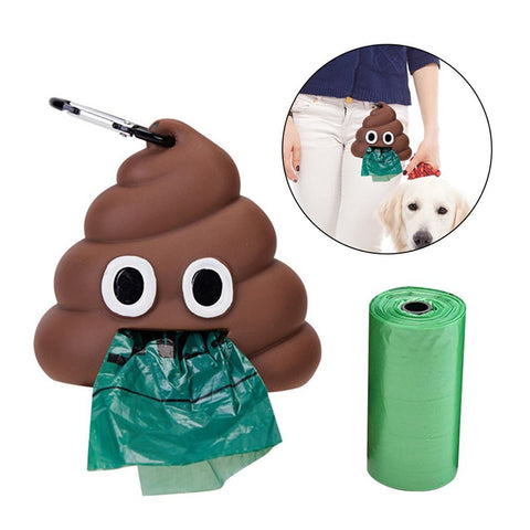 Cute Poop Shape Dog Waste Bags Storage Cleaning Products