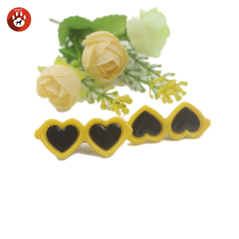 Dog Accessories Love Glasses Pet Hair Hairpin