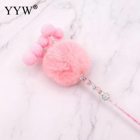 Teaser Funny Cat Toy Kitten Plush Soft Rod Cat Wand