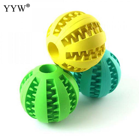 Tooth Clean Ball Of Food Extra-Tough Rubber Ball Dog Pet Products For Dogs