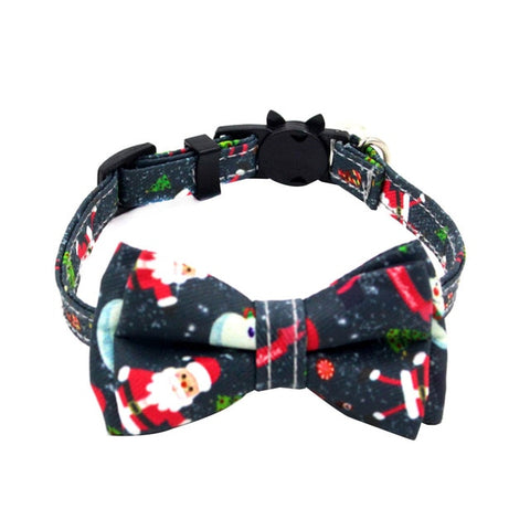 New Christmas Pet Collar Cat Face Safety Buckle