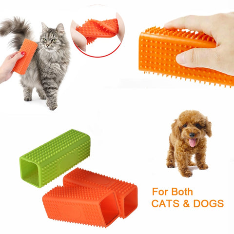 Pet Silicone Clean Hair Removal Brush Dog Cat Comb