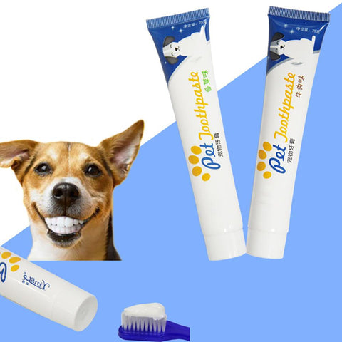 Pet Product 1PC Edible Dog Puppy Cat Toothpaste Teeth Cleaning Care Oral Hygiene