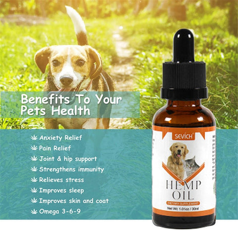 Cat And Dog Pure Natural Pet Hemp Seed Oil Helps Relieve Stress And Anxiety