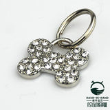 Dog Supplies Accessories Metal crystal bone pendant