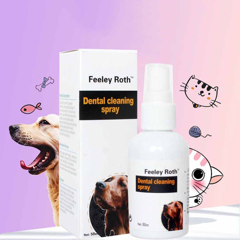 Pet Teeth Breath Cleaning Freshener Dog Cat Dental Spray Care Cleaner