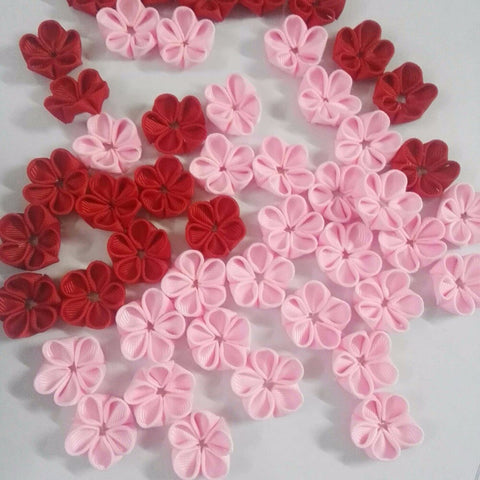 2017 50pcs Pet Dog DIY Handmade Cherry blossoms semi-finished products