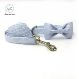 Dog and Car Collar Set with Bow Tie