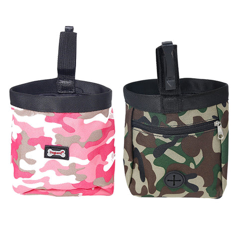 New Arrival Green/Pink Pet Dog Puppy Pouch Walking Food Treat Snack Bag Agility Bait Training Pockets Waist Storage Hold