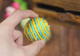 3PC Cat Toy Sisal Ball Cat Kitten Funny Teaser Ball Chewing Menthol Flavor Catch Toy