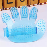 lovely pet New Pet Dog Or Cat Fingers Brush Hand Shampoo Grooming Bath Massage Glove Brush Comb 916