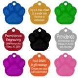 One Piece Multi Color Engraving Personalized Pet Dog Tags ID Customized Tags Name Phone Any Text for Dog or Cat Tags