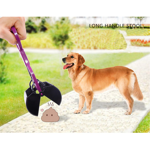 Long Handle Dog Pooper Scooper Pet Dog Cat Feces Stretch Shovel Pets Cleaning tools Dog Accessories for home or outside