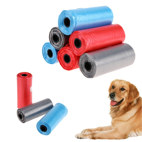 90Pcs/6 Roll Pet Dog Poop Bags Garbage Bags for Dog & Cats