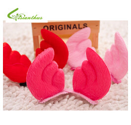 Cute Fashionable Angel Bunny Hair Clips One Pair