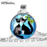 Cat Fashion Silver Necklace