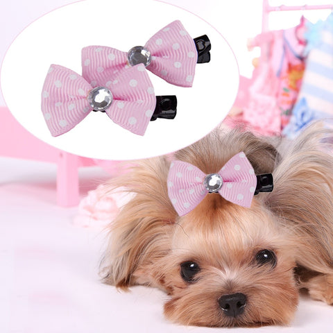 10pcs/lot DIY Dog Hair Bows Dog Cat Hairpins Lovely Pet Hair Clips