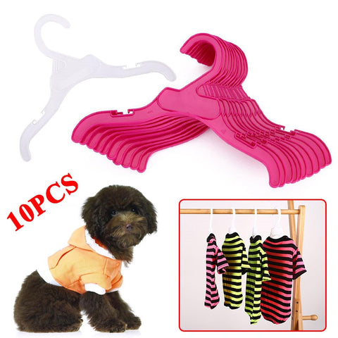 10PCS/Set Plastic Tough Pet Dog Puppy Cat Clothes Clothing Rack Hanger