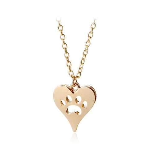 Heart puppy memorial charm necklace woman style animal lover gift girl