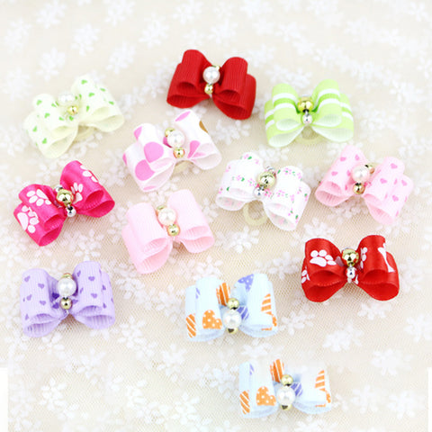 10 piece/set Pet Puppy Headdress Products Pets Fashion Hairpin Flower