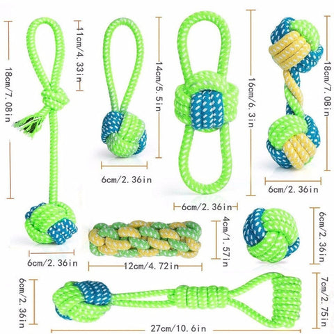 Training Chew Cotton Knot Toys Dog's Chew Set Product Supplies