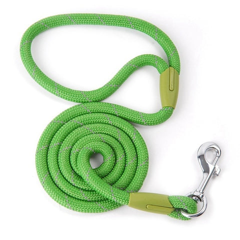 Reflective Dog Leash Rope Pets Lead Dog-Collar Harness Nylon Running Leashes