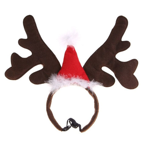 Christmas Pet Headband Deer Horn Hat Costume Dog Puppy Cat Cosplay Party