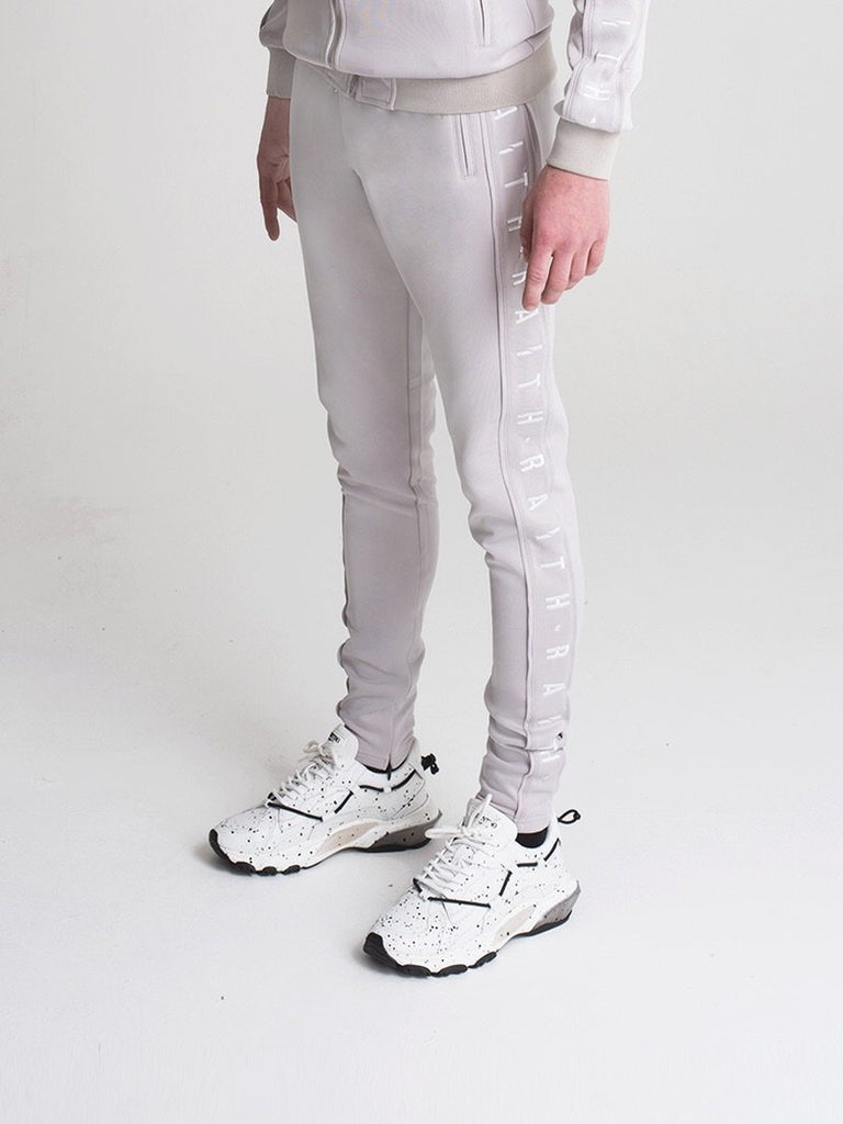 TRACK PANT LIGHT GREY & WHITE
