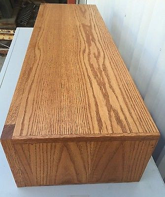 TV Riser Stand Modern Oak Style Handcrafted Custom Sizing