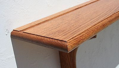 Wall Shelf Solid Oak Wood Plate Groove Design with Medium Finish (Choose Color)