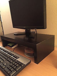 Computer Monitor Riser Stand Handcrafted Modern Style Shelf