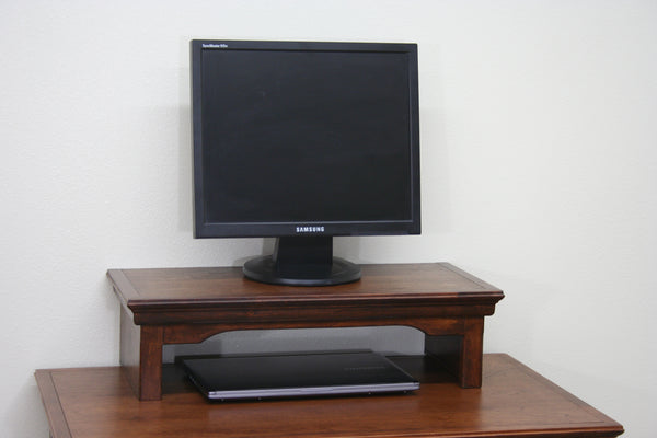 TV Riser Stand Traditional Style Arts and Craft Shelf Alder Wood