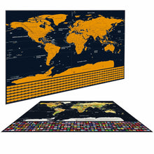 Gold Scratch Off World Map - Deluxe Edition