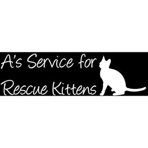 A's Service For Rescue Kittens