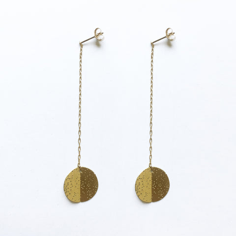 Folded Brass Earrings (no.21)