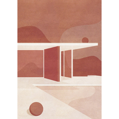 Artist print of The Barcelona Pavilion, Part I (A3)