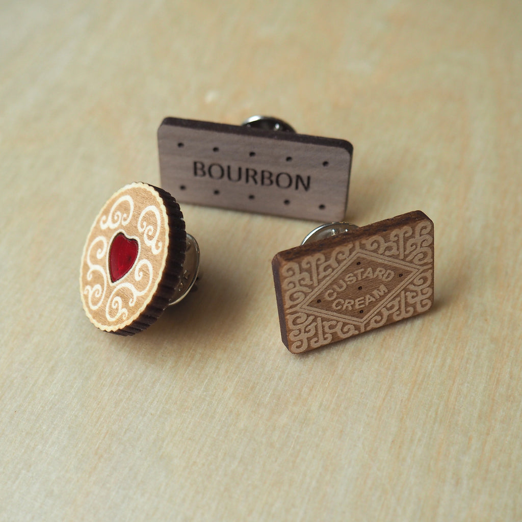Biscuit Pin Badges