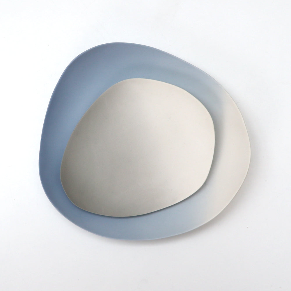 Grey Small Porcelain Gradient Plate