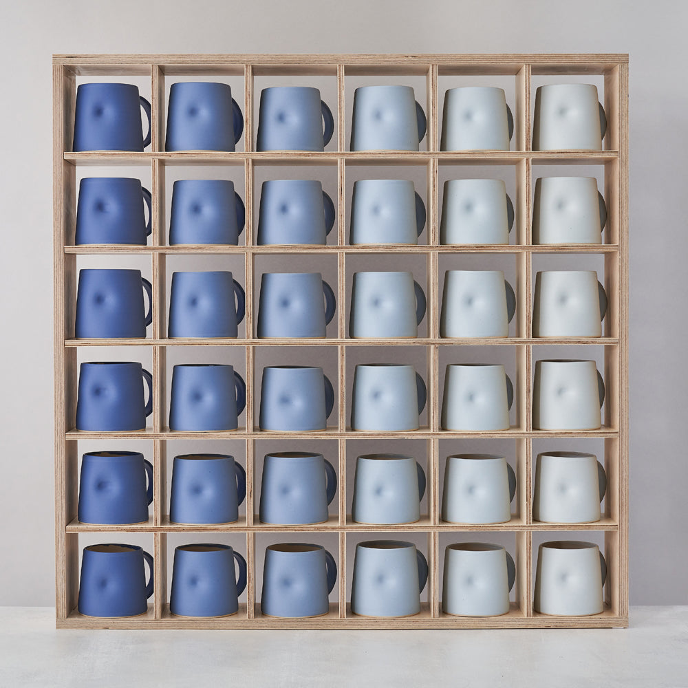 Cobalt Blue Scale Everyday Mug Set