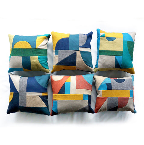 Patchwork Square Cushions