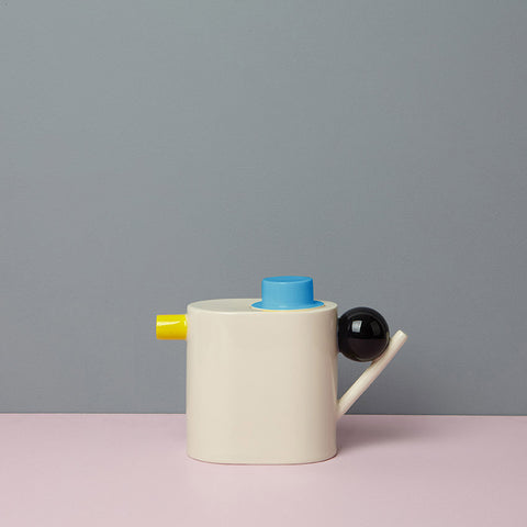 Geometric Tea Pot - yellow/blue/black